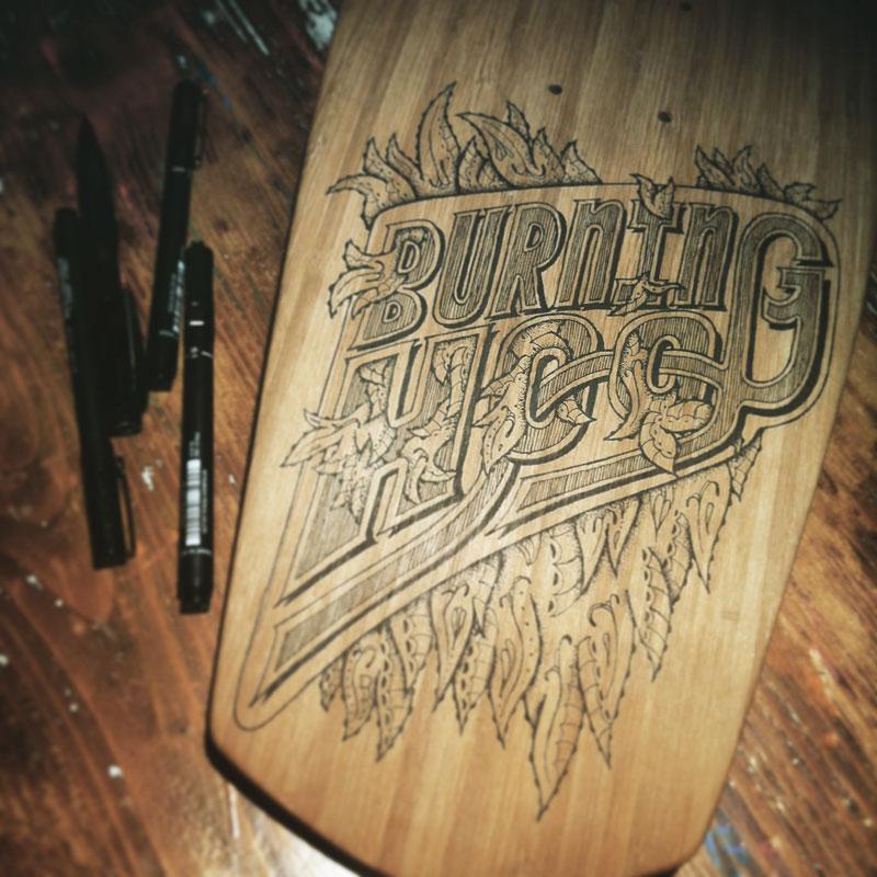 Longboard - Burgning Hoof