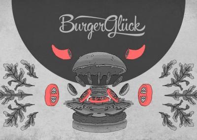 Bürgerglück | Illustration + Speisekarte