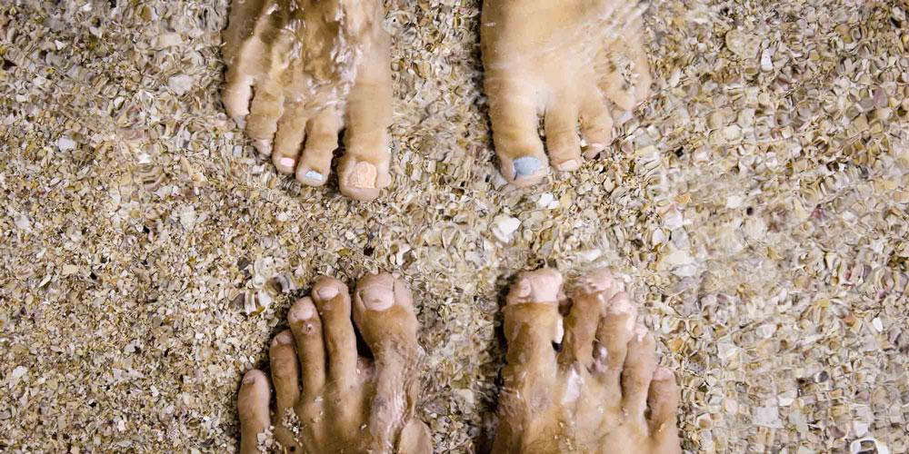 füße am strand in Sihanoukville City