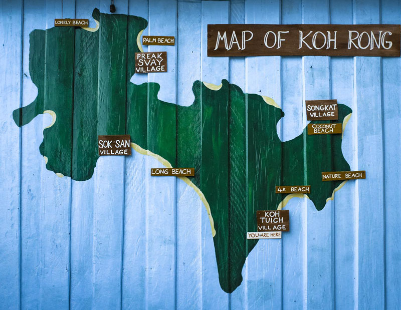 map Koh Rong Cambodia