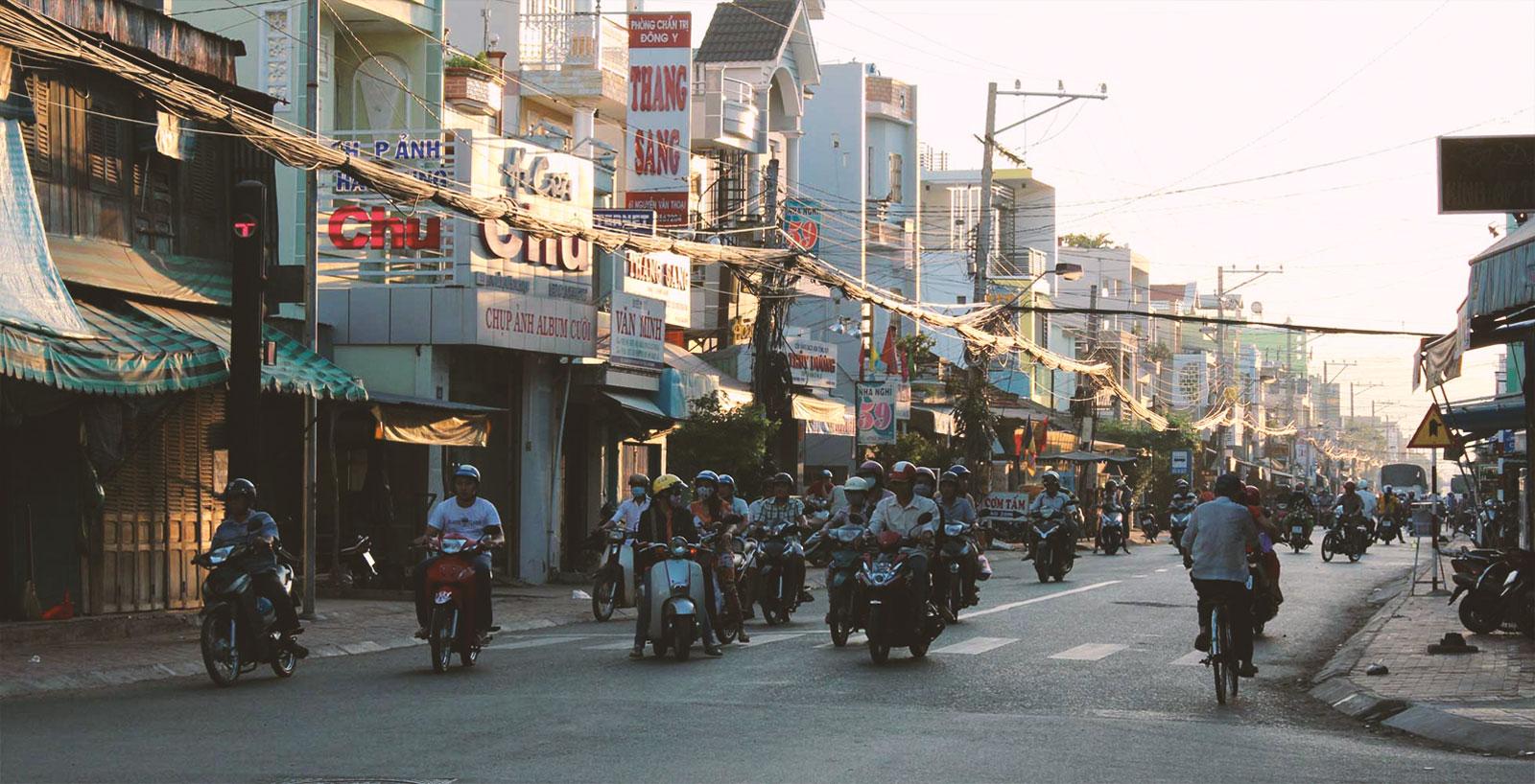Chau Doc to Ho Chi Minh trafic - Bild