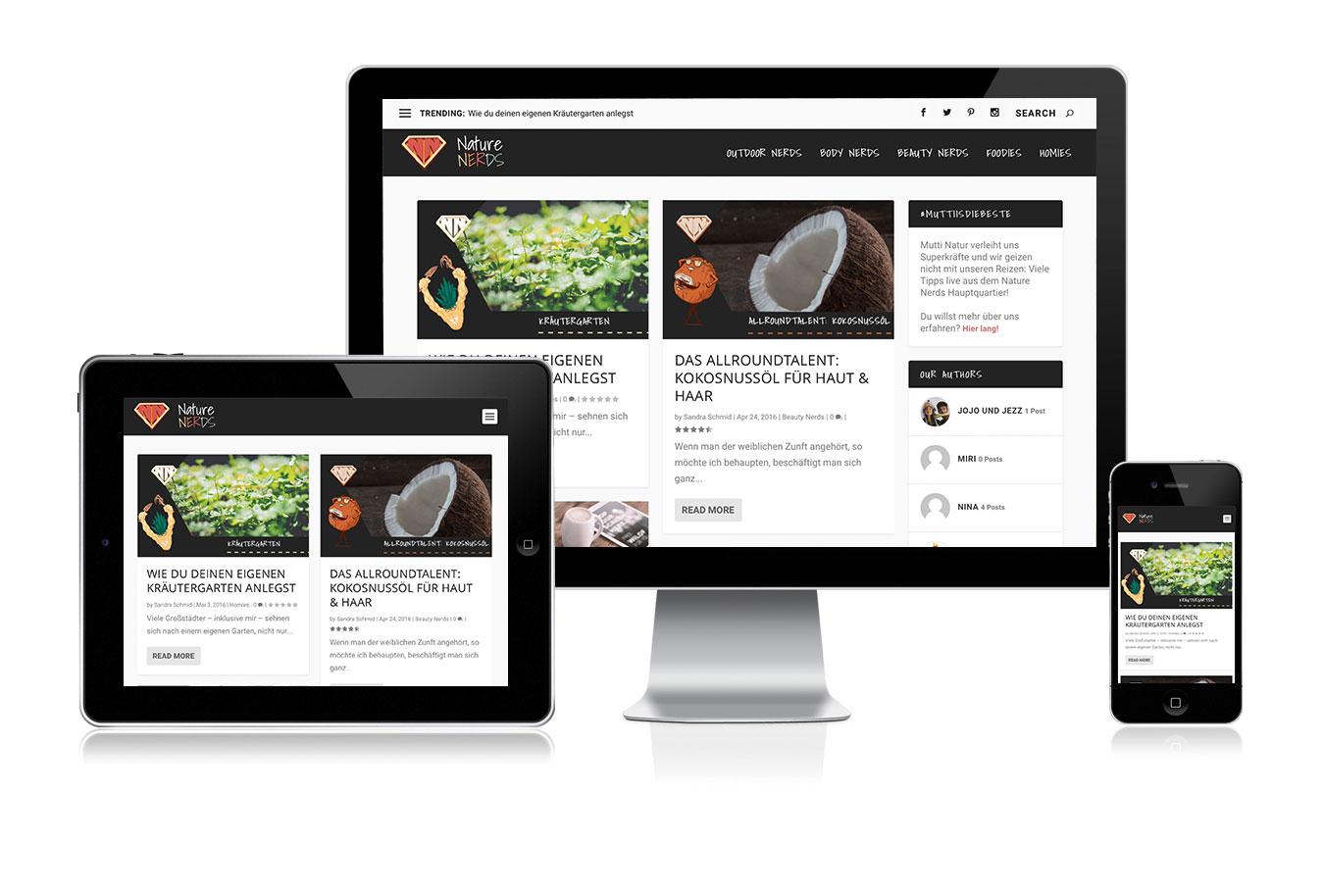 nature-nerds webdesign